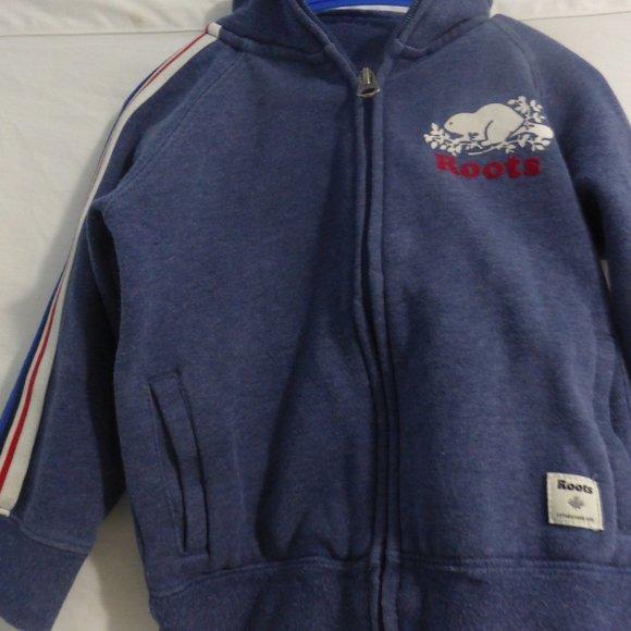 ROOT KIDS zip up sweatshirt jacket with collar